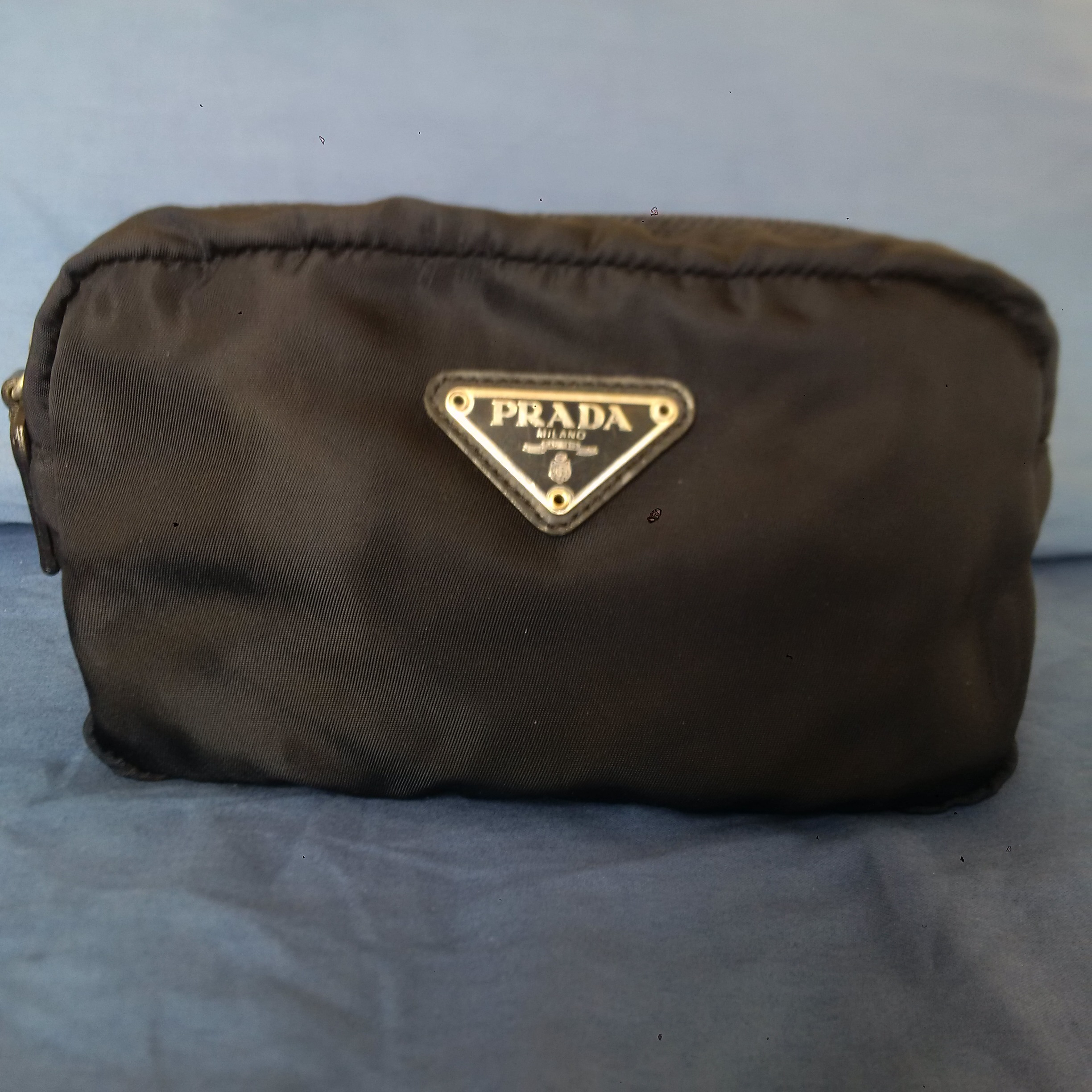 f0a10ace9e7d ... shopping emoo online classifieds for sale prada tessuto navy nylon  cosmetic toiletry bag e66d0 08483