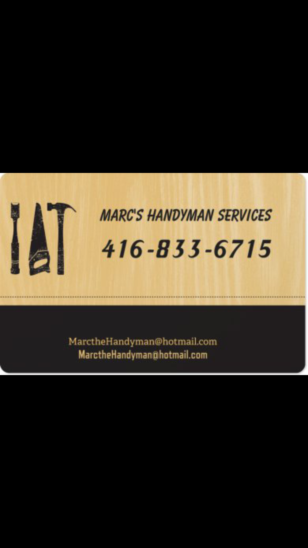 Toronto Sun | Classifieds | Services | Marc's Handyman